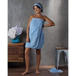 Paréo de bain Bleu