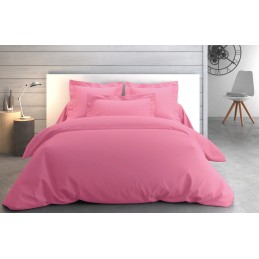 Drap plat Percale 270x310 Rose